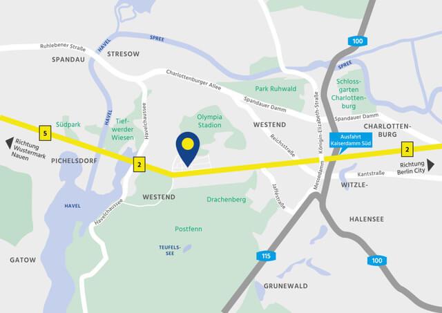 Wegeskizze / Anfahrtsskizze zum Standort